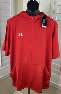 Under Armour Evo Short Sleeve Red Cage Jacket, 1343184-600 - Men's 2XL - NWT $75