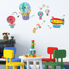 Decowall Animals Air Balloon Nursery Kids Removable Wall Stickers Decal DA-1610B
