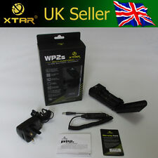 XTAR WP2S Dual Channel Battery Charger 3.7V Li-ion IMR 18650 *UK or EU Version*