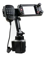 Cup Holder Mount With Height Adjustment and Mic Holder For Yaesu FTM-300 FTM-400