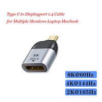 Adaptateur USB C mâle vers DisplayPort 1.4 8K 60Hz pour MacBook Pro et plus