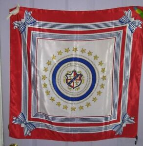 "Vintage  RAFFERTY  Crest / Shield    Scarf         31"" Square"