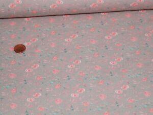 Jersey Stoff Cute Roses Digital Taupe 25x150cm Meterware