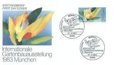 Germany 1983 FDC 1174a IGA Kwiat Blumen Flowers