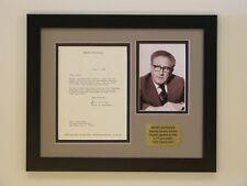 Henry Kissinger Original Signed Letter to TV Personality