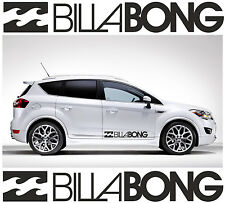 2 x BILLABONG LOGO car graphic sticker decals Vinyl camper van surf C6