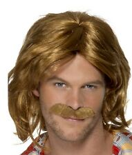 Mens Super Trouper Fancy Dress Wig & Tash Set Keith Lemon or 1970s by Smiffys