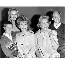 Lucille Ball with Vivian Vance Posing with Kids 8 x 10 Inch Photo