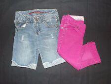 CHEROKEE and ARIZONA Lot of 2 Girls Jean Bermuda shorts and Pink Capri Size 7