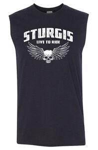 STURGIS Sleeveless T-shirt - S to 4XL - Harley Davidson Biker