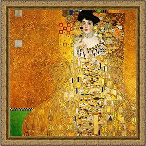 Adele Bloch Bauer I by Gustav Klimt 80cm x 80cm Framed Ornate Gold