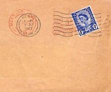 BR5 1967 GB WALES REGIONAL *Merthyr* & *Neath* WILDINGS Cover Re-used Envelope
