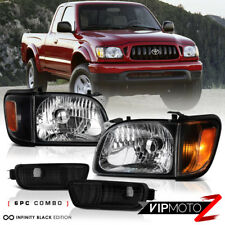 For 2001 04 Toyota Tacoma 2d 4wd Pickup Black Headlight Amber Signal Left
