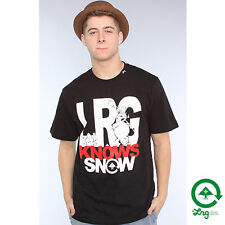 LRG L-R-G Lifted Knows Snow Skate T-Shirt Tee Black NWT NEW RT:$28  Streetwear