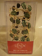 Lenox Holiday Set Of 12 Shower Curtain Hooks