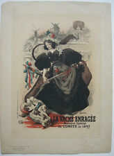 Roedel la vache ENRAGEE Montmartre Lithographie MAITRES DE L'AFFICHE 1897