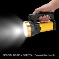 LED Rechargeable Handheld Searchlight Super Bright Spotlight Torch Flashlight