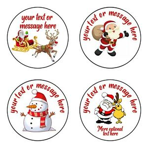 PERSONALISED Christmas Gift Stickers for Presents, bottles, cards, envelopes etc