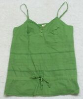 Tank Top Tee T-Shirt Sleeveless Green Size Medium Spaghetti Strap Mossimo Cotton