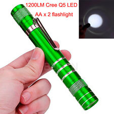 1200Lumens Mini Flashlight Powerful Torch Cree Q5 LED Torch Tactical Lamp Light