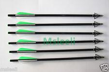 6 CROSSBOW BOLTS ARROWS + 6PCS 3-BLADE SHARP BROADHEADS FOR CROSSBOW HUNTING