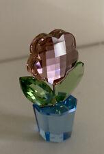 Swarovski Crystal Figurine Happy Pink Flower In Pot 627097 Rare A9460 NR000155