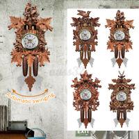 Wall Clocks Cuckoo Pendulum Watch Art Craft Home Decoration Hanging Wood