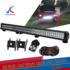 39Inch LED Light Bar Combo with 1Lead Remote Control Offroad SUV Jeep Tractor