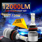120W 12000LM CREE LED HEADLIGHT BULBS KIT 9007 HB5 6000K WHITE HIGH LOW BEAM