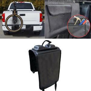 Portable Single Bike Tailgate Pad Protector Mat Rack w/ Strap for Truck Pickup