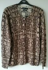 Marks and Spencer Autograph Size 22 Brown Mix PURE CASHMERE Cardigan  RP £109.00