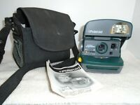 Polaroid One Step Express Instant 600 Film Camera Green W/Case Untested