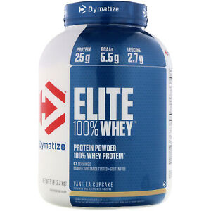 Dymatize Nutrition Elite 100% Whey Protein powder in sizes 907g / 2.1kg