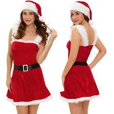 Winter Wear Mrs Santa Costume Adult Sexy Miss Claus Christmas Fancy Dress