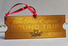 LIONEL POLAR EXPRESS METAL GOLDEN TICKET CHRISTMAS TREE ORNAMENT train 9-22042