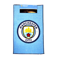 MANCHESTER CITY FC PRINTED CREST RUG BEDROOM DOOR MAT FLOOR NEW XMAS GIFT