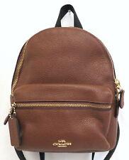 Coach Charlie F28995 Brown Pebble Leather Mini Backpack Bag
