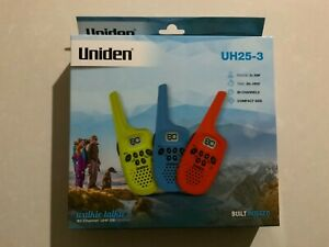 Uniden UH25-3 Built Rugged Walkie Talkie 3 Pack