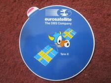 AUTOCOLLANT STICKER AUFKLEBER EUROSATELLITE DBS TELE-X SATELLITE ESPACE SPACE