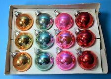 CHRISTMAS GLASS BAUBLES ORNAMENTS TREE 1970's BRIGHT COLOURS POLAND VINTAGE CB23