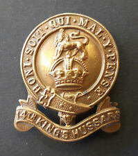 More details for 14th kings hussars military cap badge (ww1)