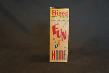Old Vtg NOS Hires Root Beer Extract Bottle In Original Box Fun At Home