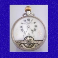 Mint & Rare WW1 Silver Visible Balance Hebdomas 8-Day Watch 1918