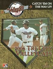 Tri-City Valley Cats--2006 Ticket Brochure/Poster Schedule--Astros Affiliate