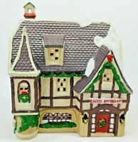 Dickens Heartland Valley Tudor Style Porcelain Lighted House Apothecary w/Box