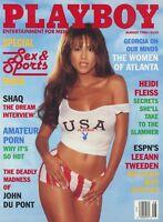 PLAYBOY AUGUST 1996 Jessica Lee Leeann Tweeden Shaq Heidi Fleiss Kathy Shower