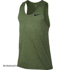 Nike Breathe Men's Training Tank Top M Green Gym Casual Running Sleeveless New
