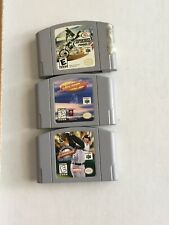 Lot of 3 Nintendo 64 N64 Games Supercross 2000, MLB Ken Griffin Jr. Lamborghini