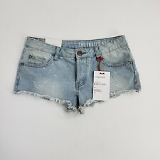 Nineteen 91 The Frayed Mid Rise Womens Cut Off Denim Shorts Distressed Pocket 4