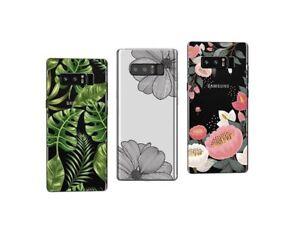 Samsung Galaxy Note 8 - Pack de 3 Coques souples et résistantes avec motifs